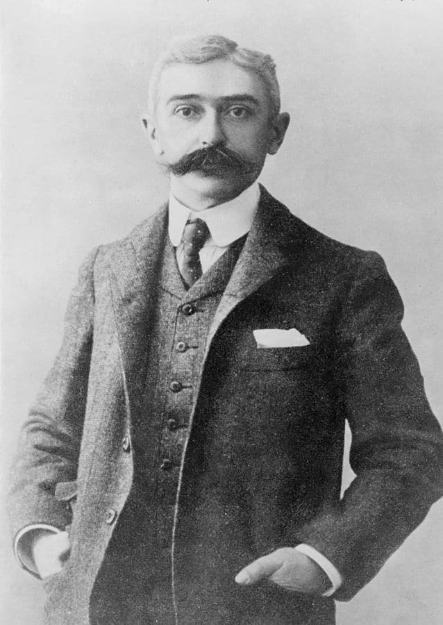 Baron Pierre de Coubertin, the founder of the Olympic Games