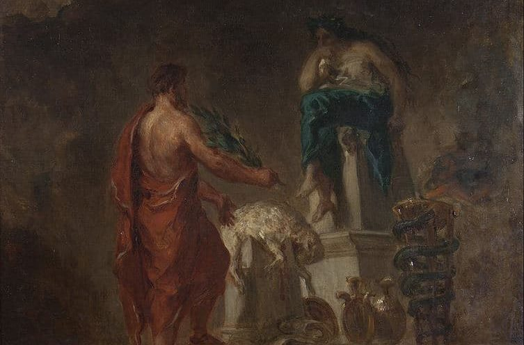 Lycurgus Consulting the priestess Pythia at the Delphic Oracle