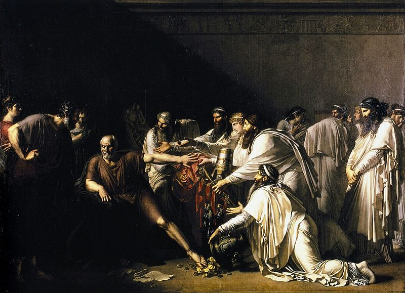 Illustration of the story of Hippocrates