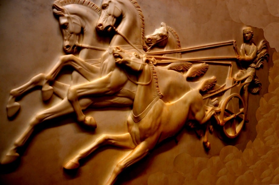 Kyniska of Sparta won in the four-horse chariot racing
