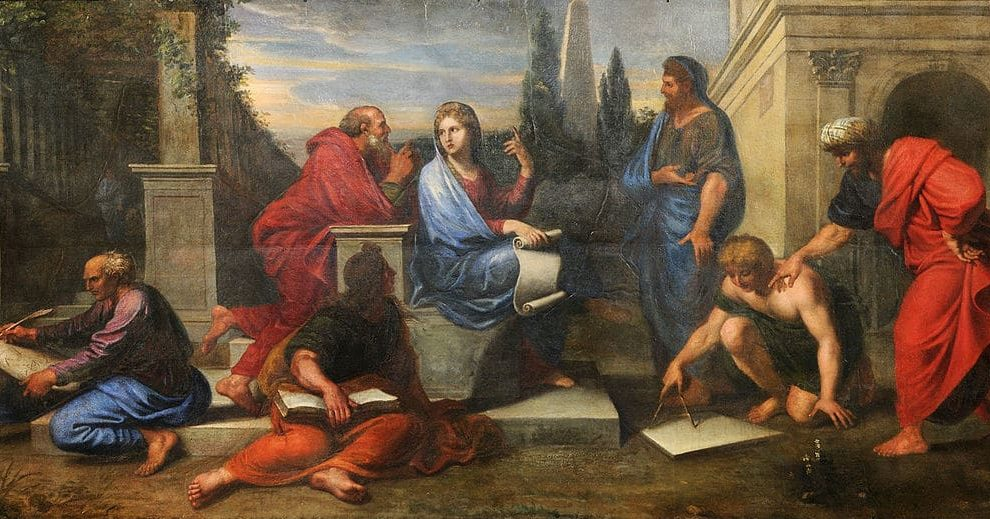 Michel Corneille the Younger: Aspasia surrounded by Greek philosophers