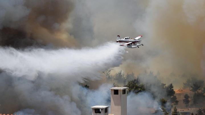 wildfires attica greece