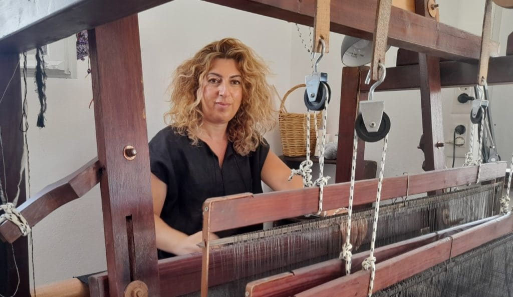 Mykonos weaver Faye Chatzi