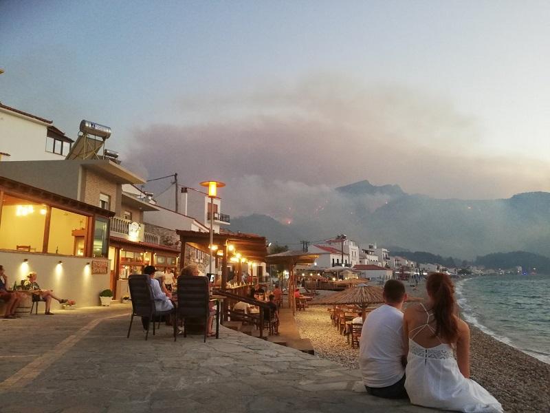wildfire Samos