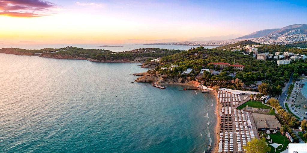 beach bar cafes Greece