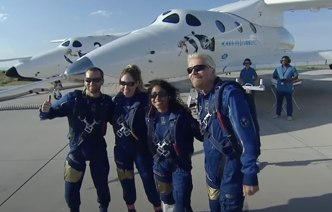 Richard Branson space Virgin Galactic VSS Unity