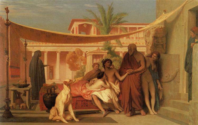 Socrates seeking Alcibiades in the House of Aspasia