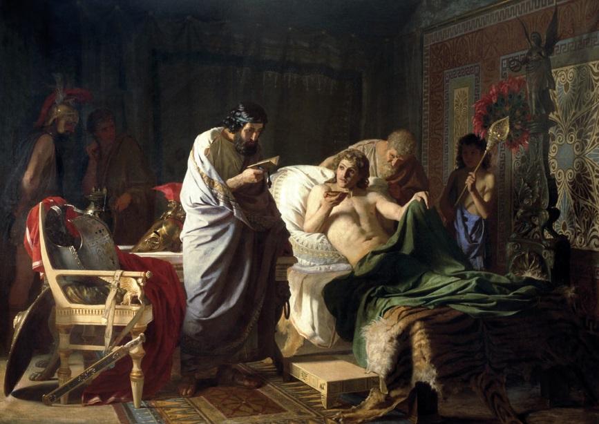 Alexander of macedon trsts the doctor Philip Medicine