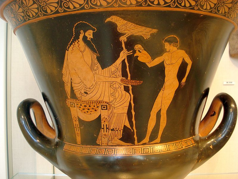 Ganymede pouring a libation to Zeus