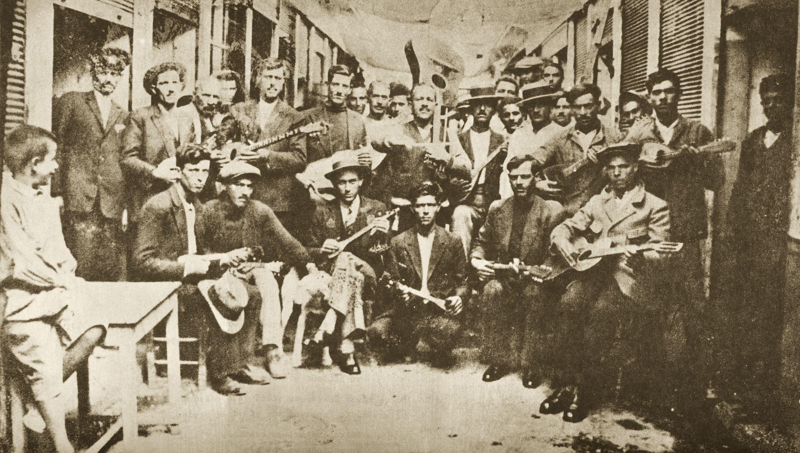 Rebetika singers, tsitsanis vamvakaris bellou chiotis