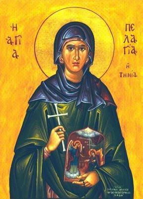 icon of Agia Pelagia tinos