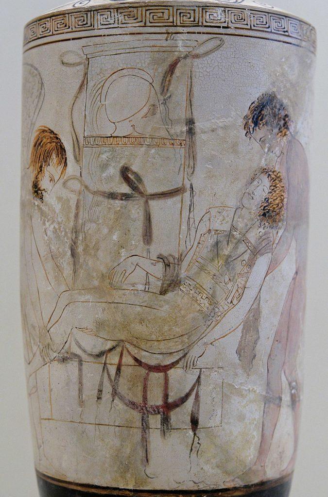 Lekythoi greek burial