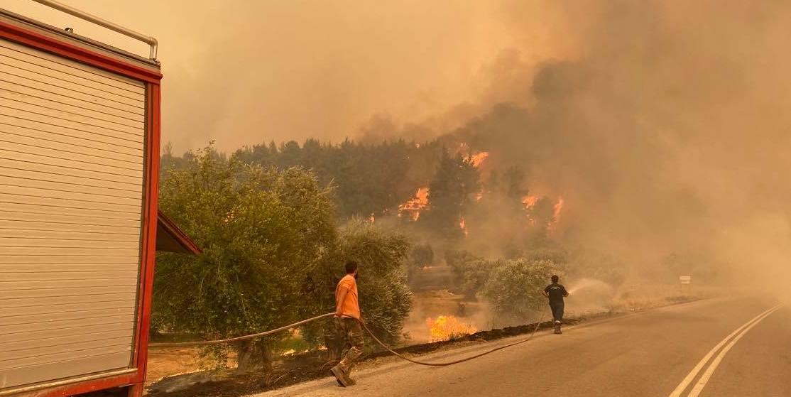 fire evia greece