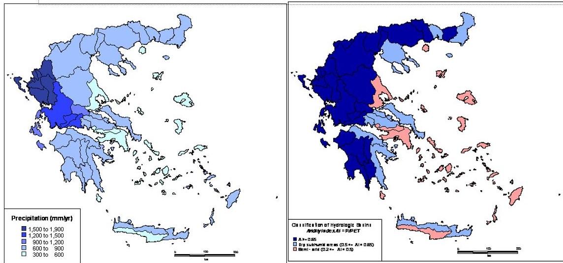 precipitation irridity greece