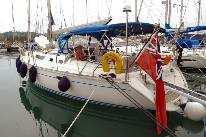Living aboard a yacht Greece