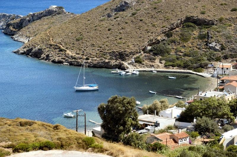 Yacht in island