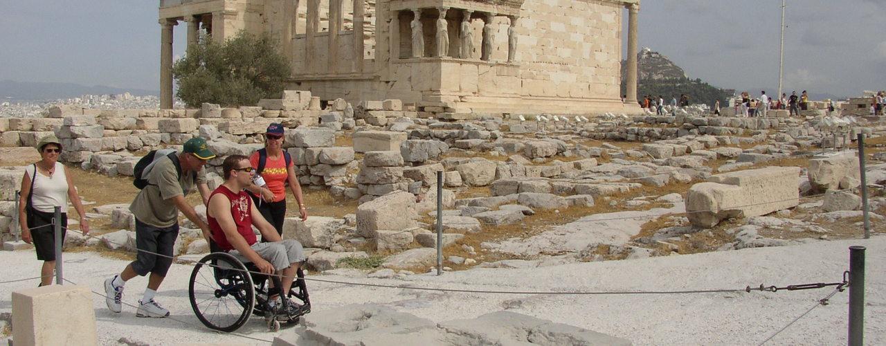 wheelchairs on the acropolis