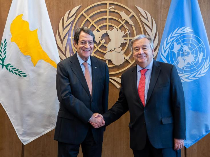 Anastasiades UN Guterres Cyprus