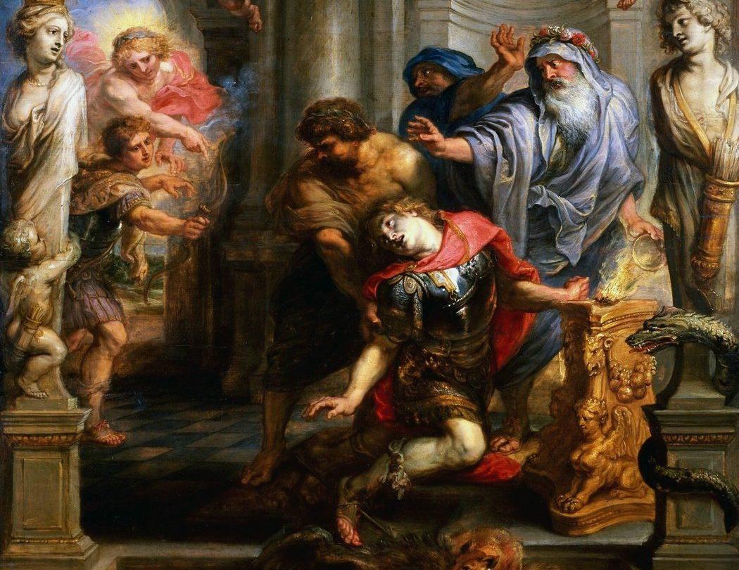 Death of Achilles, Iliad
