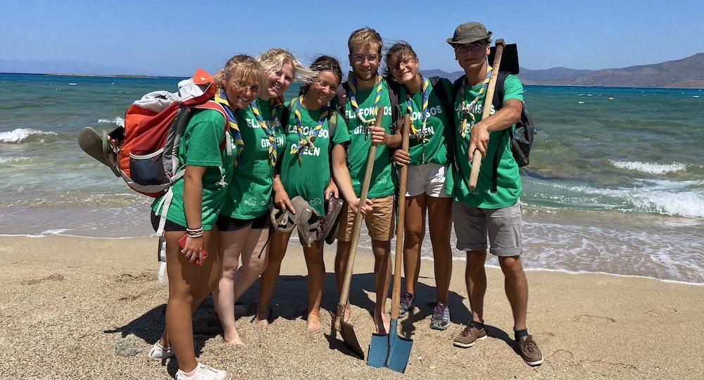volunteers beach clean greece