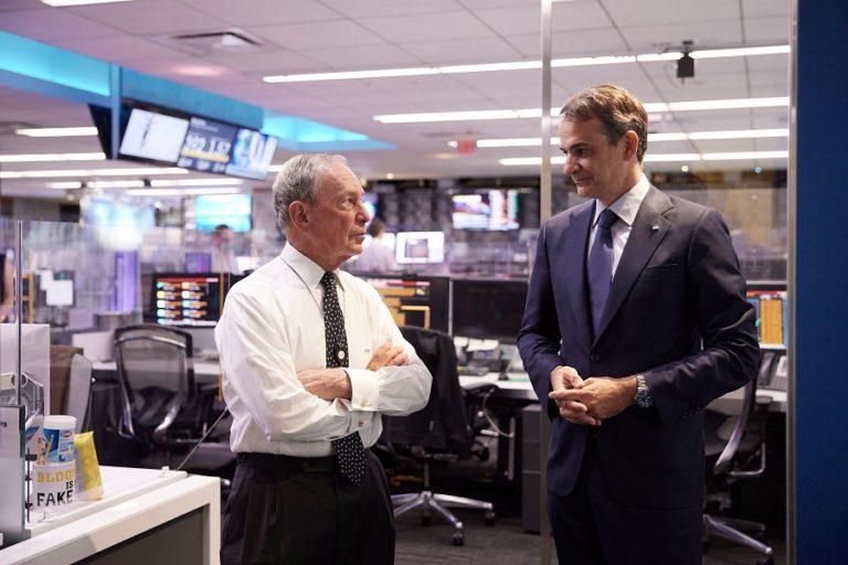 PM Mitsotakis Exalts Greek Economy in Meeting New York Leaders