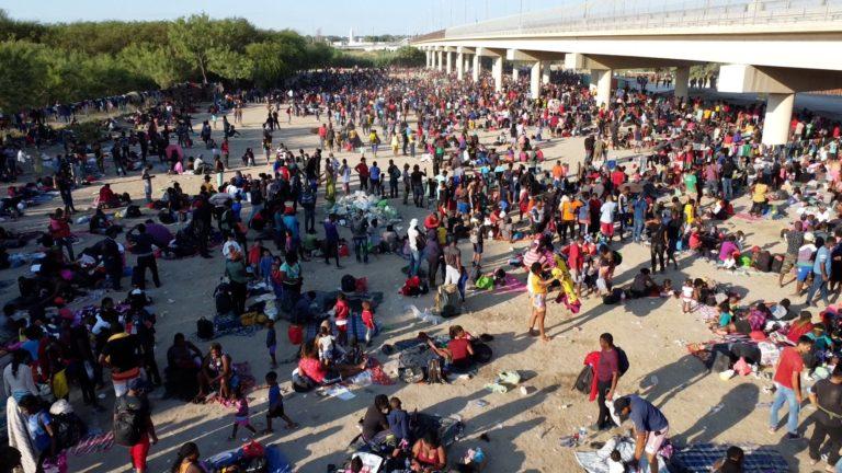 Border Crisis Heightens for Biden as Thousands Camp Under Bridge