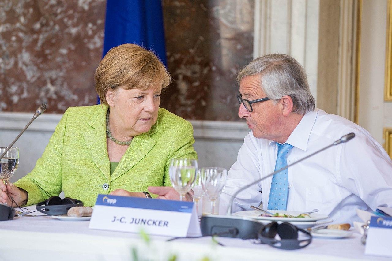 Juncker Merkel Greek crisis