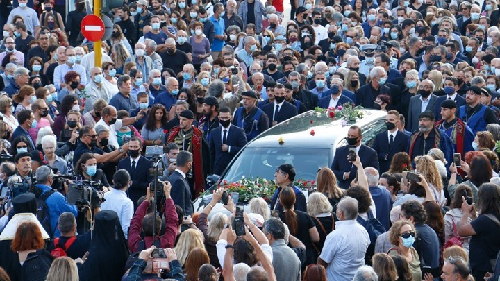Photo of Greece Mourns at Funeral of Great Composer and Patriot Mikis Theodorakis | GreekReporter.com