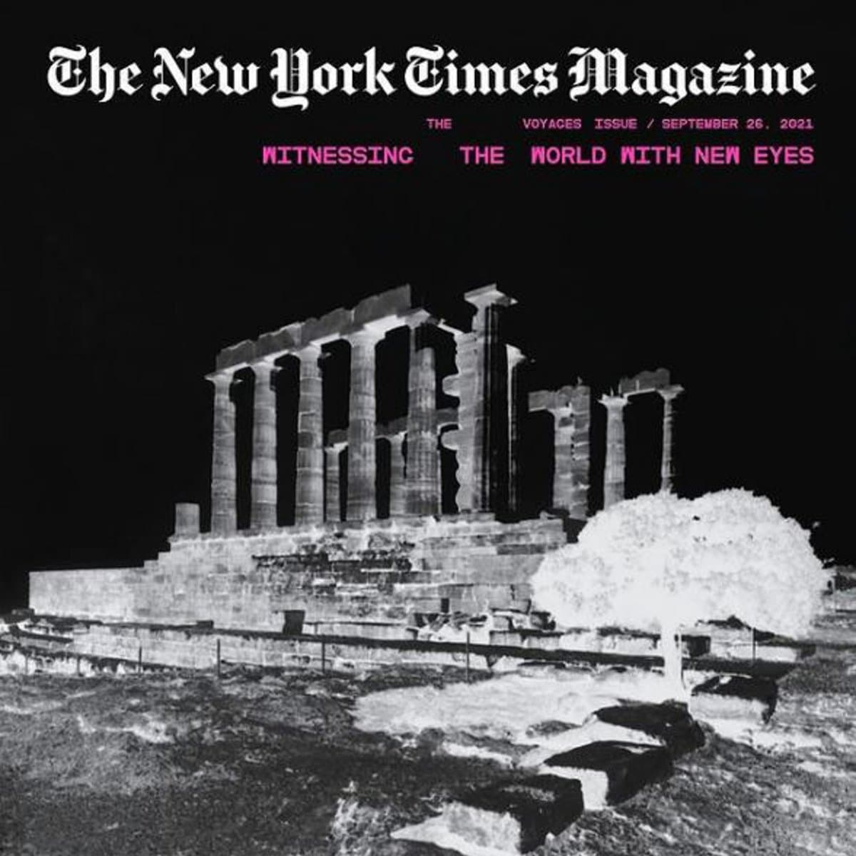 NYT mag. Poseidon Temple athens exhibitions