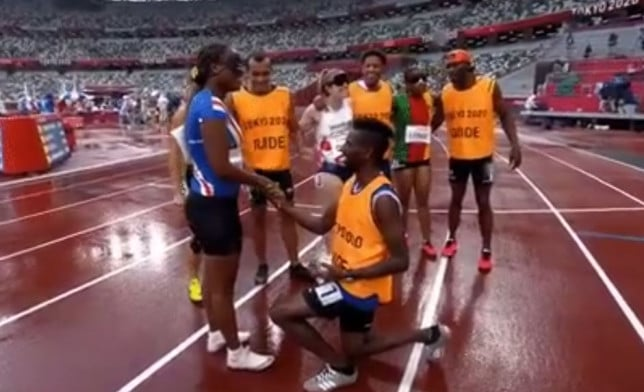 Paralympic Sprinter Becomes Engaged on Track Minutes After Race