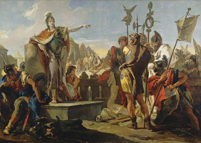 Queen Zenobia Addressing Her Soldiers woman