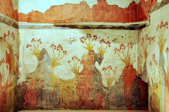 Spring Fresco Akrotiri Santorini
